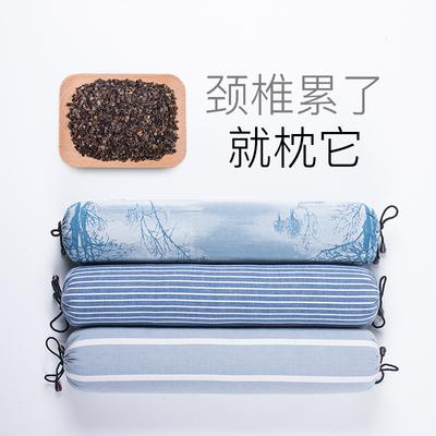 颈椎枕荞麦决明子枕头枕芯颈枕圆柱修复专用护颈枕圆形糖果硬单人