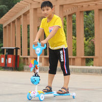 Scooter girl child frog type four wheel 2 boy child 3-6-8-10-12-14 years old beginner feet