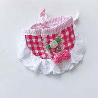 Pet accessories dog cute scarf Teddy small dog than bear VIP lace slobber towel triangle towel bib