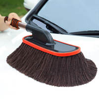 Wipe car mop car wax tow cotton brush car mop dust mite sweep dust wax brush car wash artifact supplies