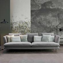 简约现代客厅小户型布艺沙发组合北欧可拆洗创意设计师乳胶布沙发