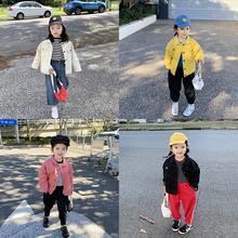 女童牛仔外套柏俅钆宝宝工装 上衣儿童夹克衫 2019秋装 新款图片