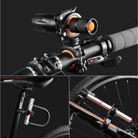 Bicycle light stand clip flashlight stand mountain bike headlight bracket fixed bracket lamp seat riding accessories can be rotated