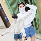 Girls mask sunscreen shawl children's special summer thin section breathable sunscreen neck ice silk mask UV protection
