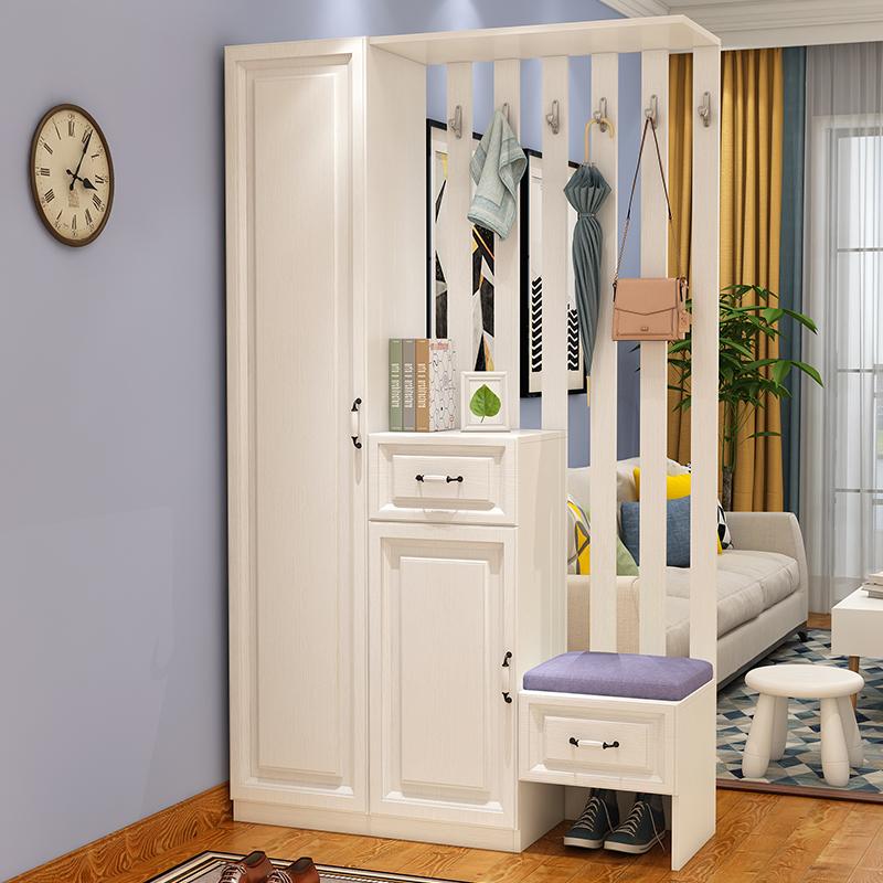 门厅柜玄关柜隔断柜简约现代鞋柜定制客厅挂衣架衣帽柜装饰柜组合