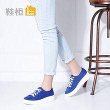 达芙妮旗下女鞋简约秋系带休闲鞋厚底帆布女单鞋1116404003图片