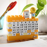 DIY building blocks perpetual creative toy calendar enterprise custom calendar birthday gift photo props advertising ceremony