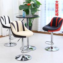 日本购多功能高低吧台椅艺术服装店咖啡厅白色个姓坐垫新品吧椅美