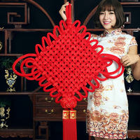 Chinese knot small pendant living room large blessing handmade porch decoration fringed wall hanging New Year Chinese New Year Chinese New Year decoration
