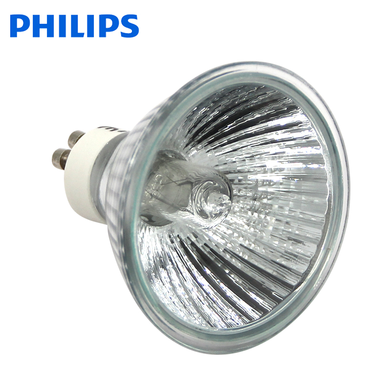 飞利浦GU10卤素反光杯灯 厚玻璃卤钨射灯 PAR20 75W灯杯 220V射泡