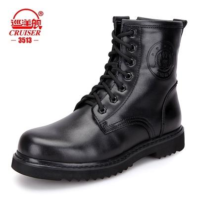 3513巡洋舰男靴特种兵户外男皮靴高帮鞋真皮羊毛保暖军靴作战靴子