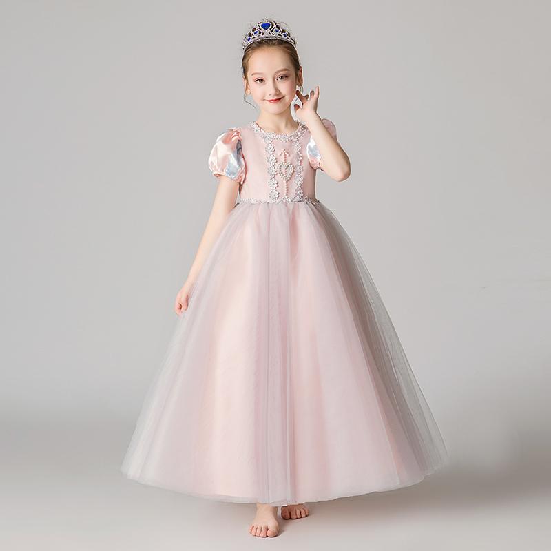 苏菲亚公主裙子女童灰姑娘礼服长发连衣裙六一儿童节索菲亚演出服