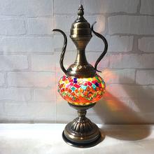 土耳其复古浪漫咖啡壶酒壶台灯餐桌吧台咖啡厅酒吧装饰礼品台灯