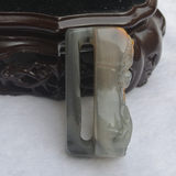 Natural yellow dragon jade belt buckle waist buckle Lucky money to send money men's belt jade waist buckle