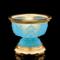 盛凡 八吉祥供碗 纯铜鎏金琉璃佛前圣水杯供佛贡碗八供碗佛教用品