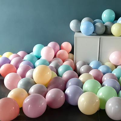 马卡龙色双层单层单色气球ins风格网红婚庆用品儿童生日装饰布置