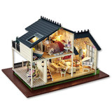 Diy cottage Provence hand-assembled house construction toy model villa to send birthday gifts for men and women