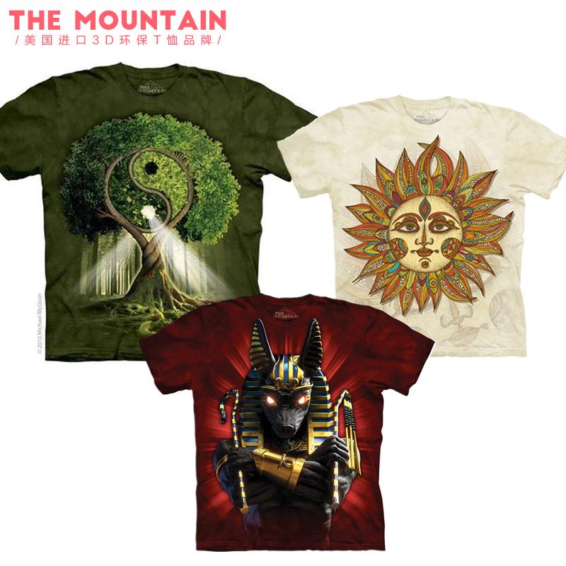美国 the mountain 自然历史类风格环保3D印花图案纯棉3D亲子T恤