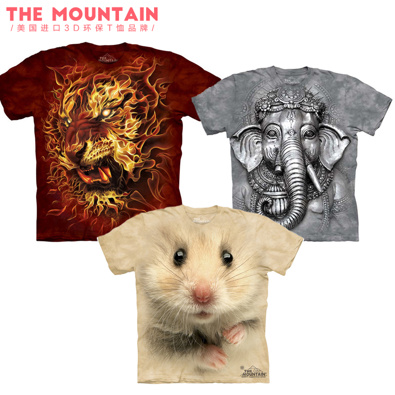 美国 the mountain 动物系列图案亲子装打底短袖纯棉环保圆领T恤