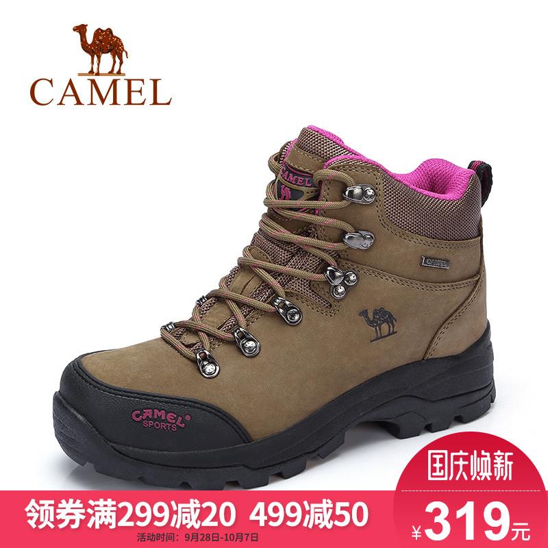 骆驼户外高帮女鞋