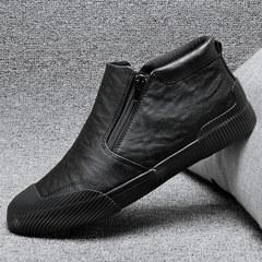 男士潮流高帮皮鞋