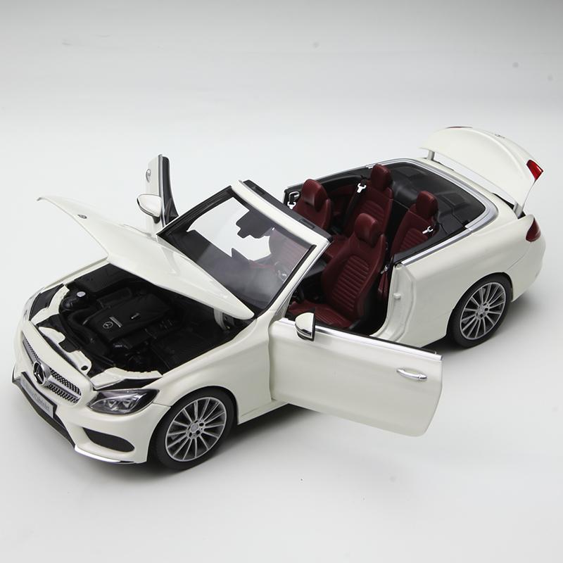 原厂 1:18 奔驰C级COUPE A205车模 奔驰新C200敞篷 合金汽车模型