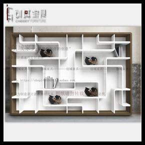 意大利设计烤漆书柜书橱简约现代隔断书柜定制隔断柜书柜书架