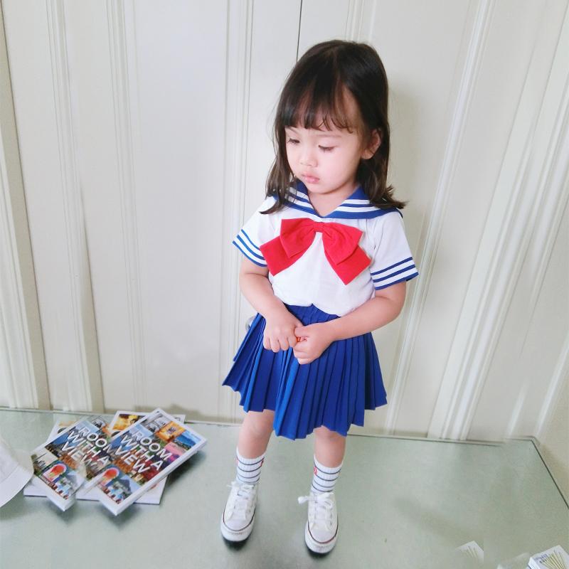 女童校服夏装套装