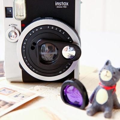 富士拍立得mini90s自拍镜 迷你90相机双重曝神器 自拍镜+滤镜套装多少钱
