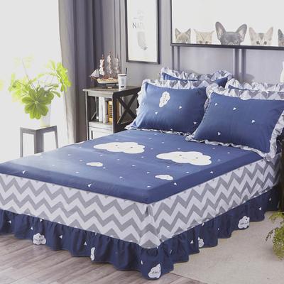 纯棉床罩保护单件床裙式1.5米1.8x2.0m围裙防尘床单床套防滑2x2.2排行榜