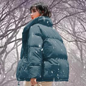 冬外套chic羽绒棉服oversize棉袄2018新款潮ins面包服女短款蓬蓬