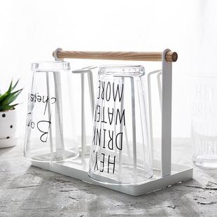 北欧风格玻璃杯置物架摆件装饰品创意家居奶茶推荐满就送抢购