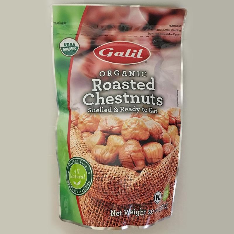 GALIL Organic无壳栗子栗板 休闲坚果零食开袋即食567g美国直邮