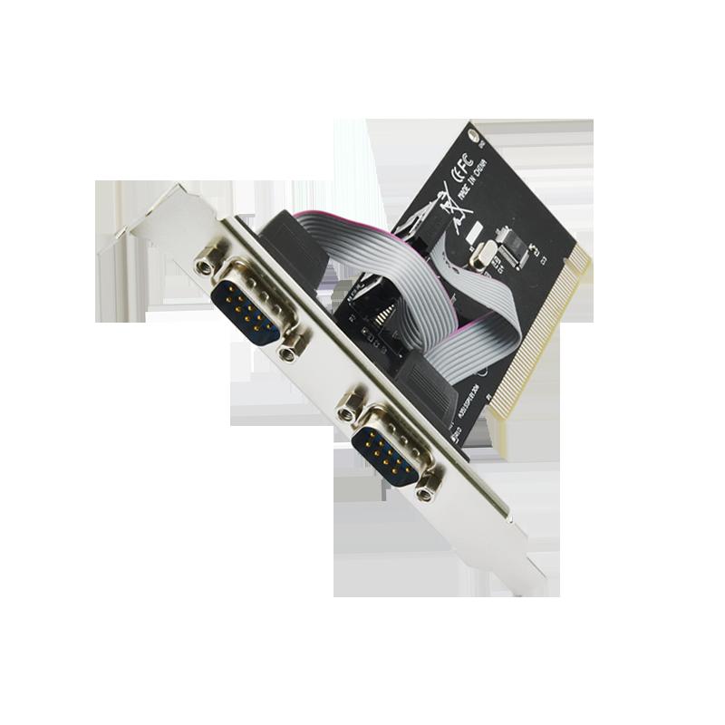 台式机电脑COM口双串口卡PCI转RS232 9针PCI串口控卡 扩展卡