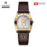 瑞士AIGNER艾格娜手表女防水時尚正品名牌2018新款玫瑰金表dw05A