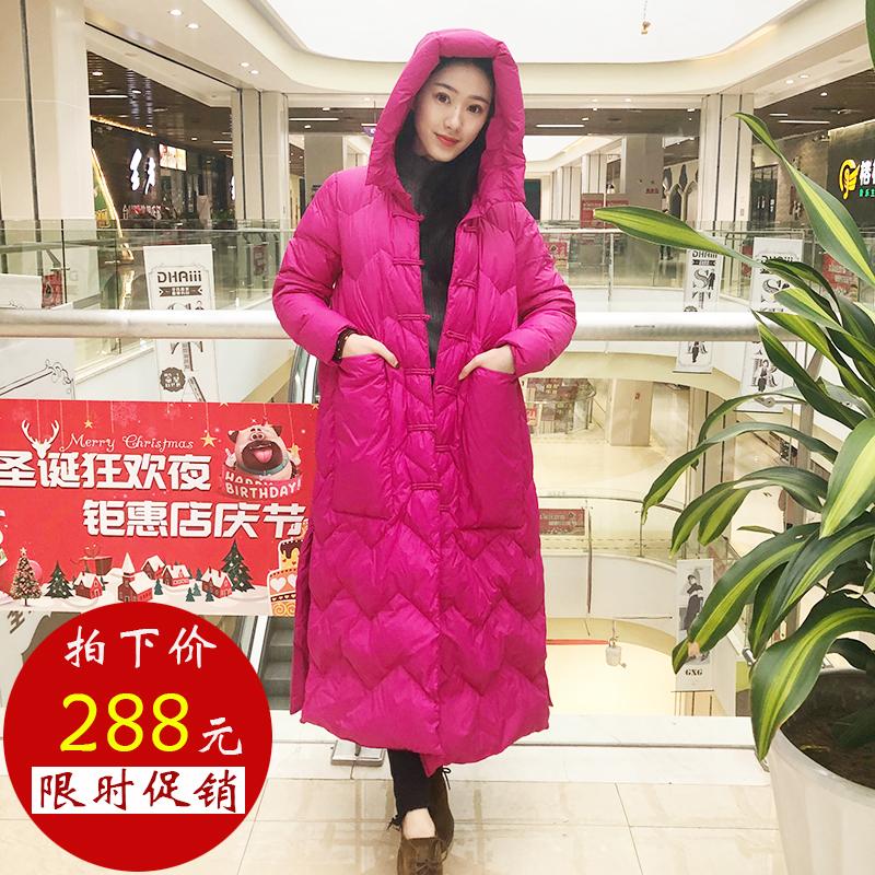 冬季韩版羽绒服中长款女