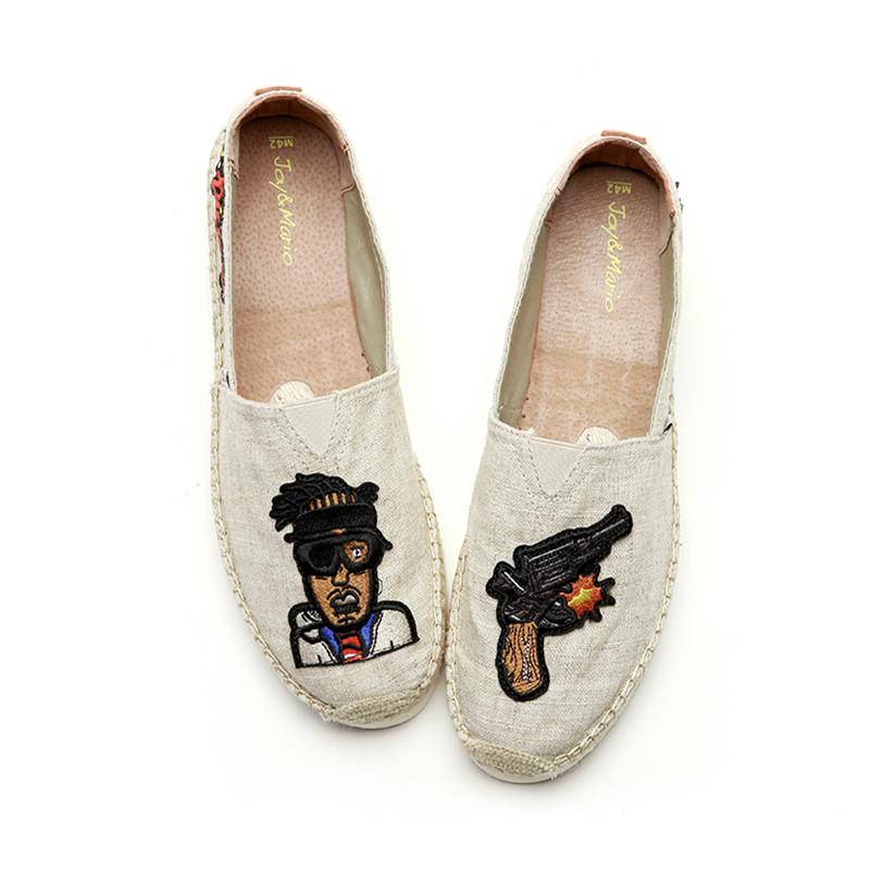 麻布面男鞋