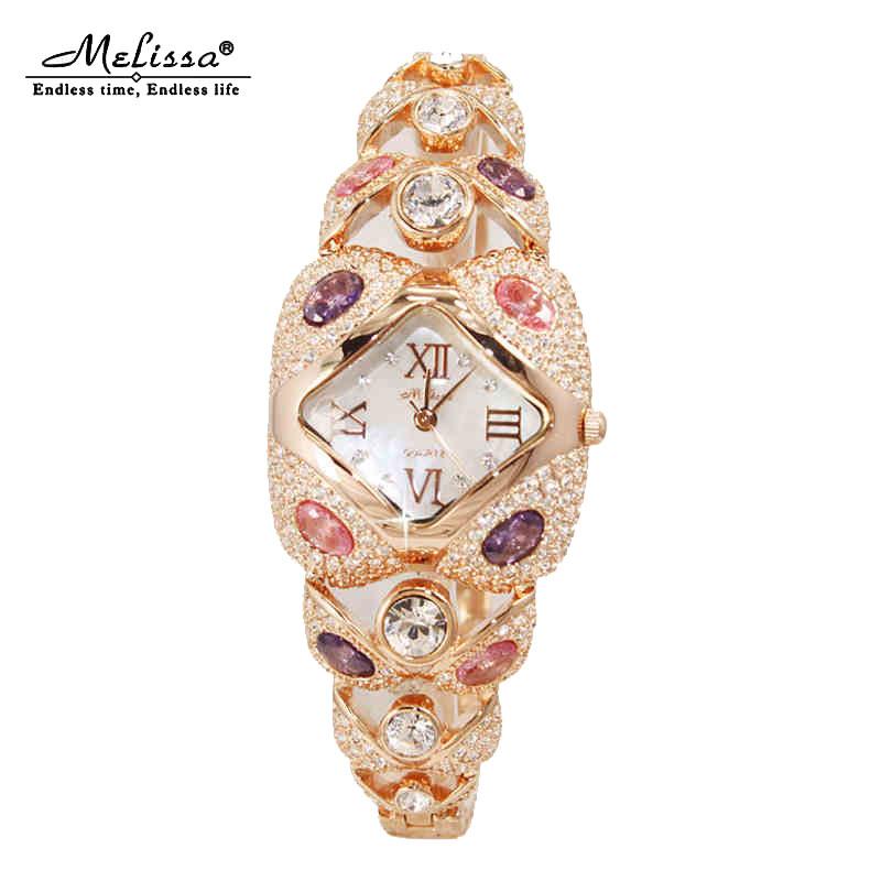 正品玛丽莎镶钻手表