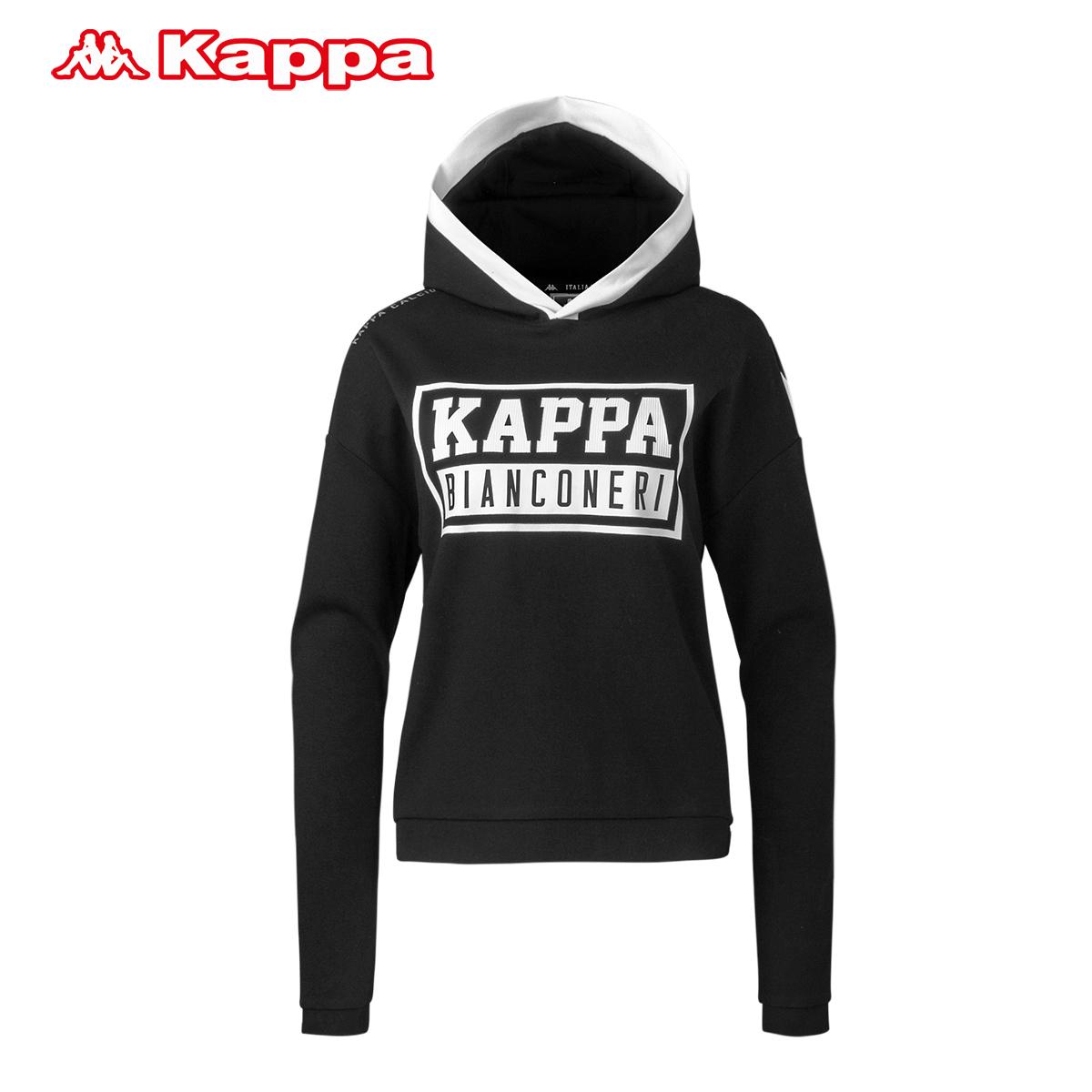 背靠背Kappa卡帕女子卫衣 休闲套头帽衫外套上衣运动服 K0622MT30