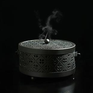 蚊香盒带盖防火家用蚊香盘托创意蚊香架室内户外便携式手提蚊香炉