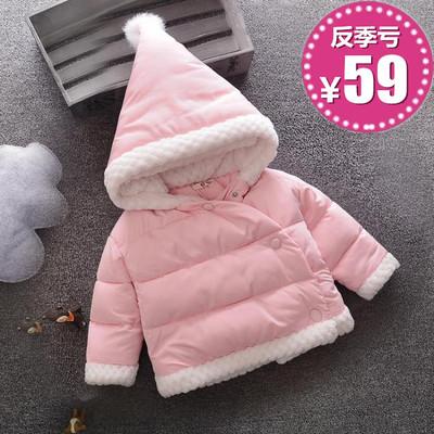 反季婴儿童装棉衣女童冬装加绒加厚棉服女宝宝棉袄外套0-1-2-34岁