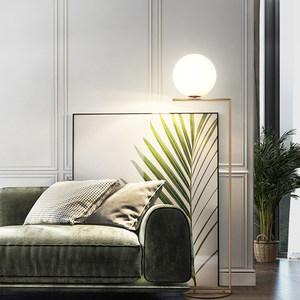现代简约玻璃球形立式台灯北欧创意卧室床头灯客厅沙发圆球落地灯