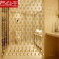Gourd bead curtain crystal curtain door to bedroom bathroom porch home living room toilet Feng Shui partition curtain