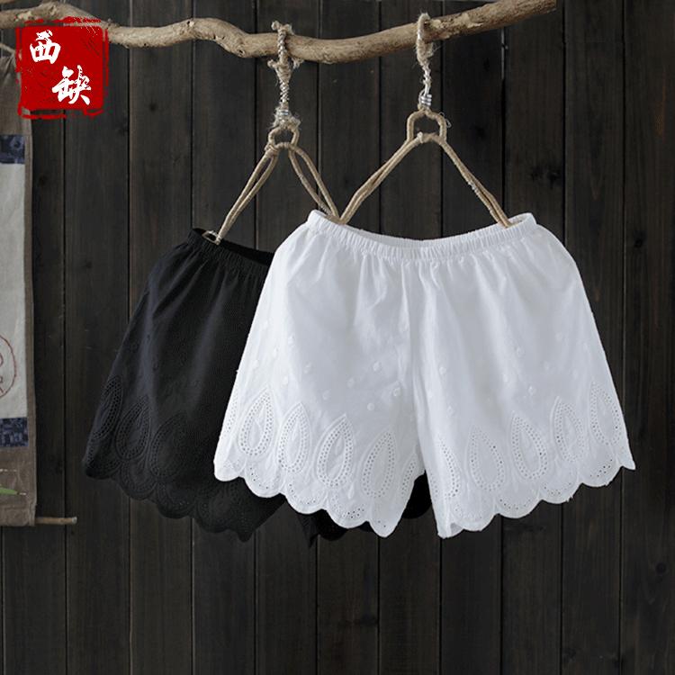 花瓣女裤子