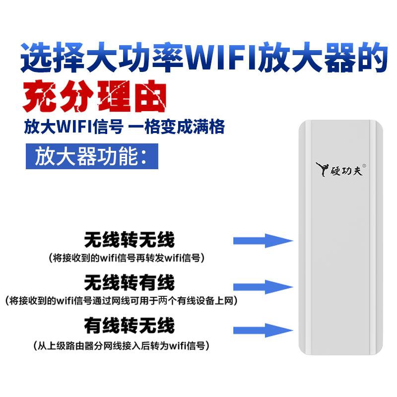硬功夫无线WiFi信号放大器增强扩大家用中继穿墙路由加强扩展网络