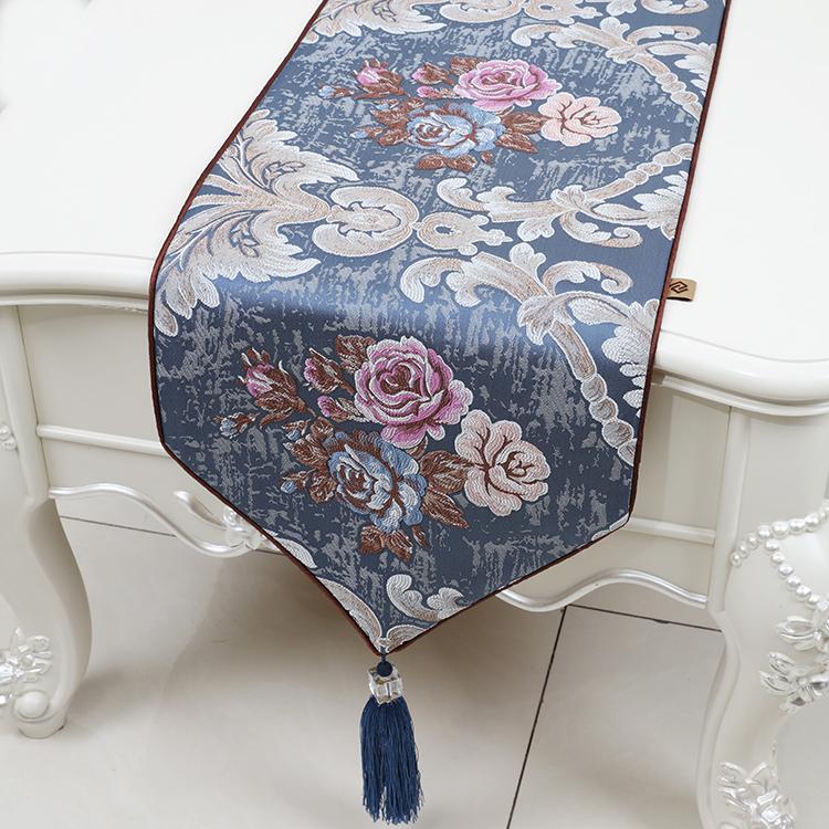 现代简约时尚美式欧式奢华中式餐桌不易电视柜床旗茶几桌旗布定制