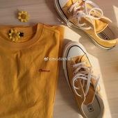 男女151229C 黄色高帮 匡威1970S三星标 帆布鞋 黄色低帮 converse