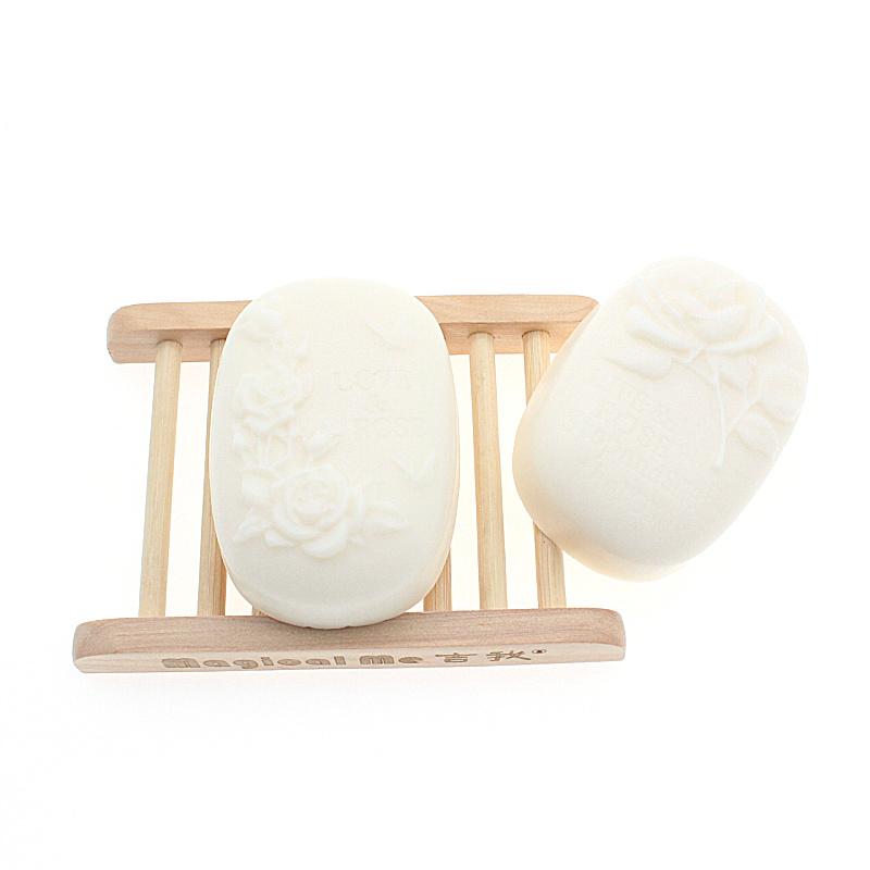 买1送1 山羊奶蚕丝手工皂玫瑰纯洗脸皂茉莉保湿洁面皂沐浴香皂女