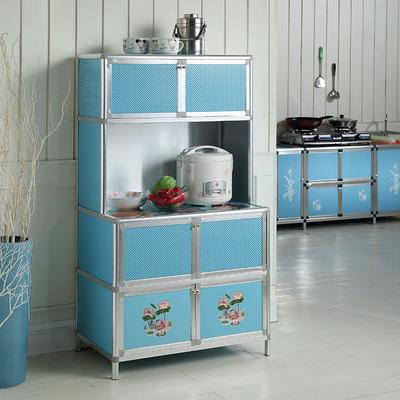 铝合金简易橱柜厨柜碗柜厨房柜厨房置物收纳柜储物柜餐边柜茶水柜