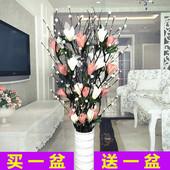 饰花摆设永生花艺 叶脉仿真干花花束假花客厅落地摆件室内玄关大装图片